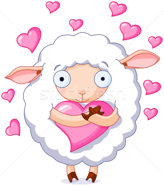 In love sheep Stock photo © Dazdraperma