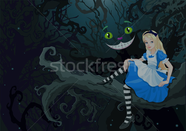 Alice in Wonder Forest Stock photo © Dazdraperma