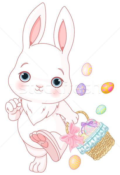 Easter egg hunt easter bunny mutlu sanat tavşan hediye Stok fotoğraf © Dazdraperma