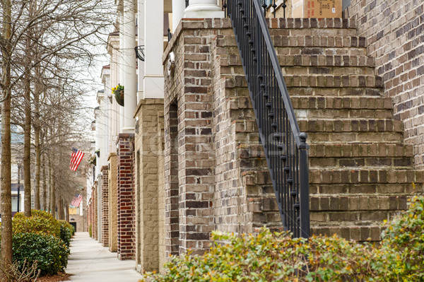 Bricks and Steps on American Townhouses Stock photo © dbvirago