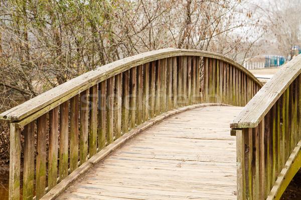 Curved Timber Bridge Stock photo © dbvirago
