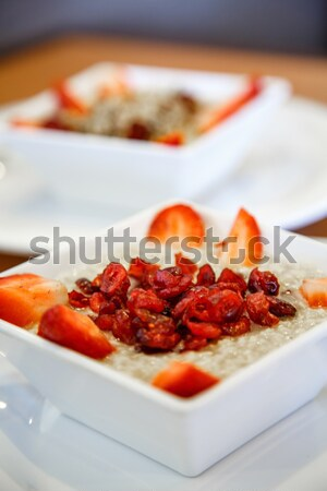 Oatmeal with Nuts Berries and Spoon Stock photo © dbvirago