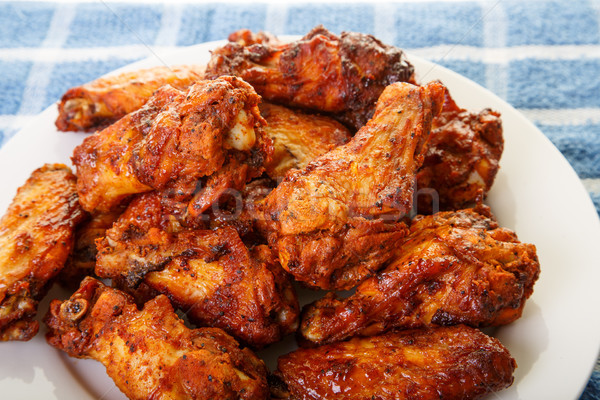Chicken Wings with Mesquite Barbecue Sauce Stock photo © dbvirago