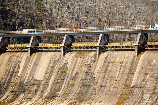 Old Concrete Hydroelectric Dam Stock photo © dbvirago