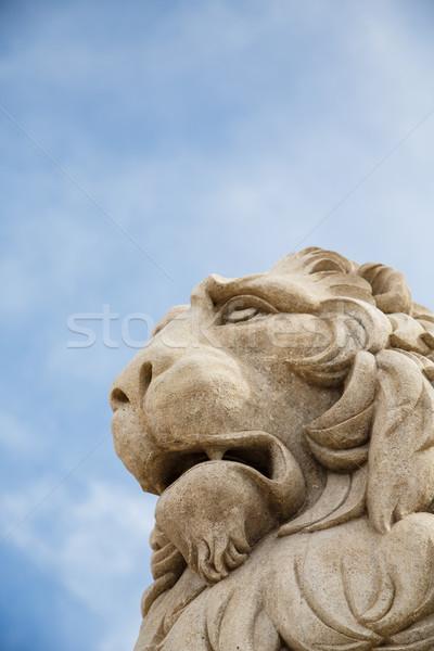 石 ライオン 空 像 いい 青空 ストックフォト © dbvirago