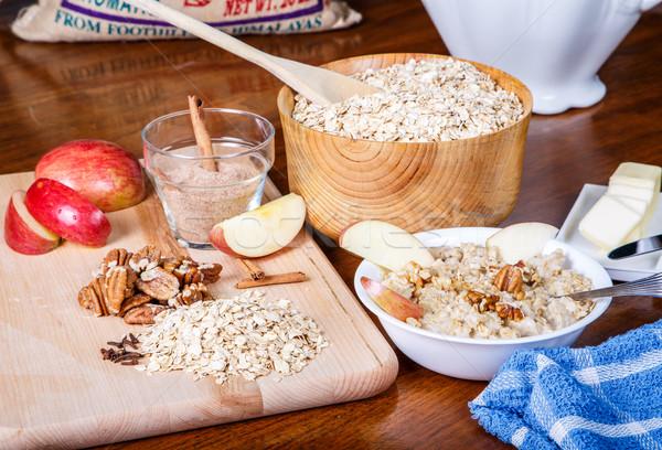 Preparazione ingredienti tavola caldo ciotola Foto d'archivio © dbvirago