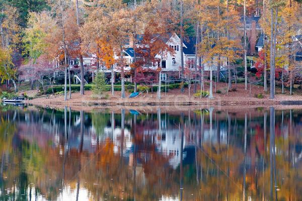 いい 家 海岸 湖 ホーム ストックフォト © dbvirago