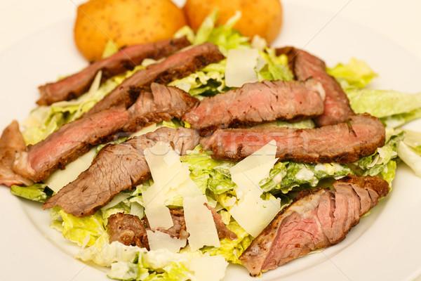 Caesar salad carne fresche cotto bistecca Foto d'archivio © dbvirago