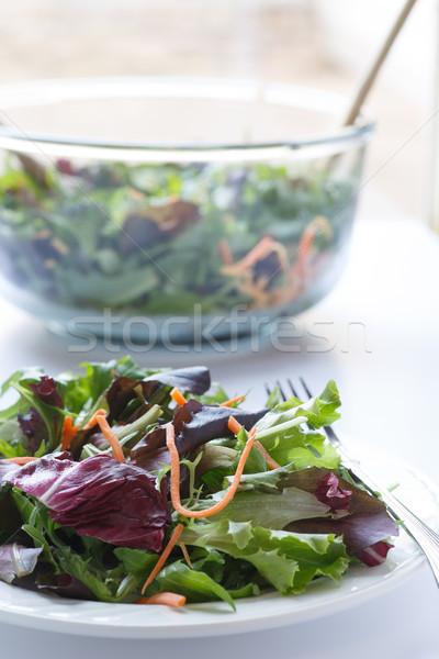 フィールド 緑 サラダ ガラス サラダボウル プレート ストックフォト © dbvirago