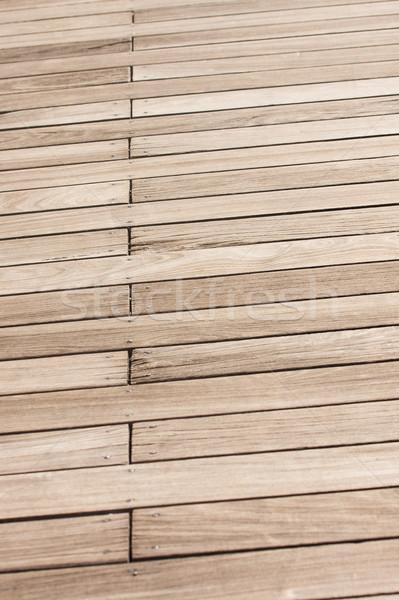 Vecchio intemperie pier legno Foto d'archivio © dbvirago