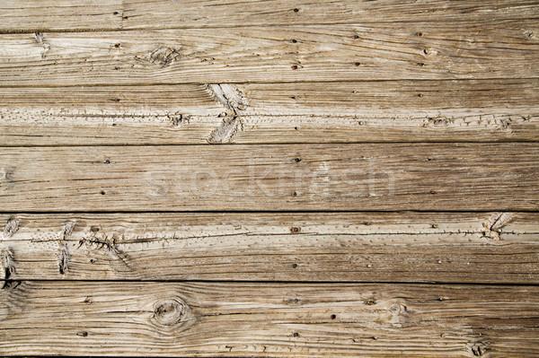 Worn and Sandy Beach Planks Stock photo © dbvirago