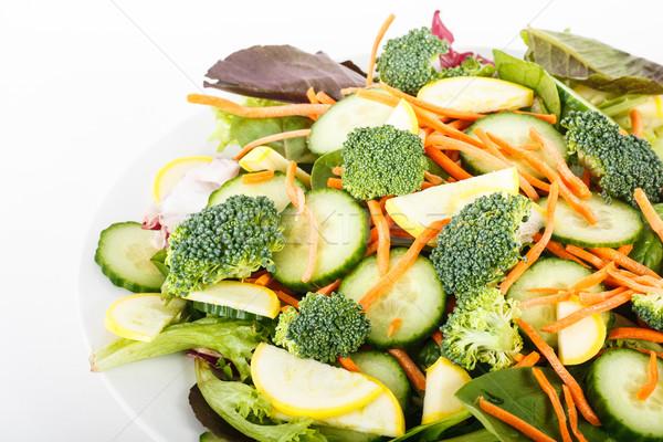 Brocoli squash concombre salade fraîches carottes Photo stock © dbvirago