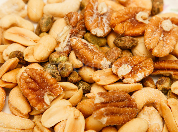Pecans Peanuts Pistachios and Cashews Stock photo © dbvirago