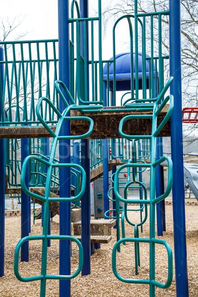 青 緑 遊び場 冬 現代 公園 ストックフォト © dbvirago