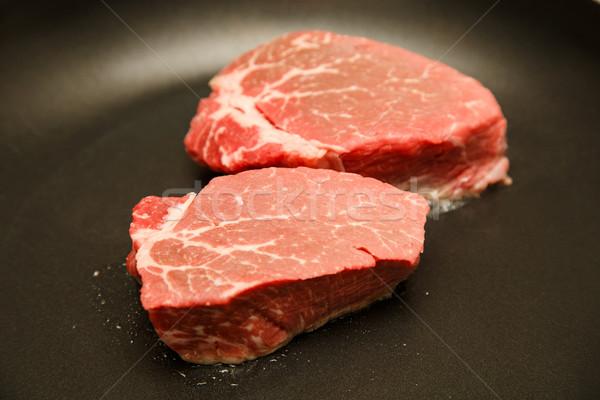 Due cottura caldo alimentare carne Foto d'archivio © dbvirago