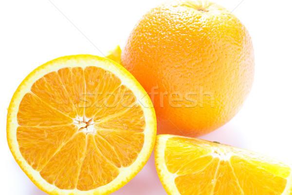 全体 オレンジ 白 カット オレンジ ストックフォト © dbvirago