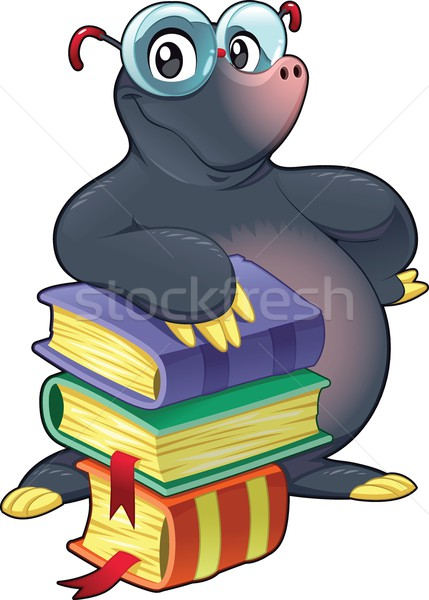 Mole with books. Stock photo © ddraw
