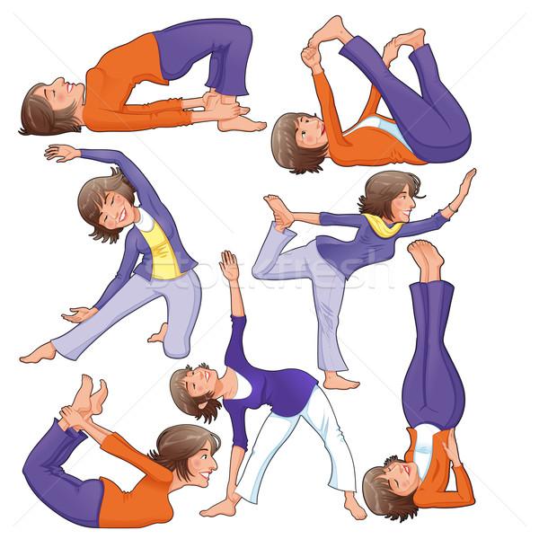 Yoga Positions.  Stock photo © ddraw