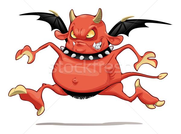 смешные демон Cartoon вектора характер изолированный Сток-фото © ddraw