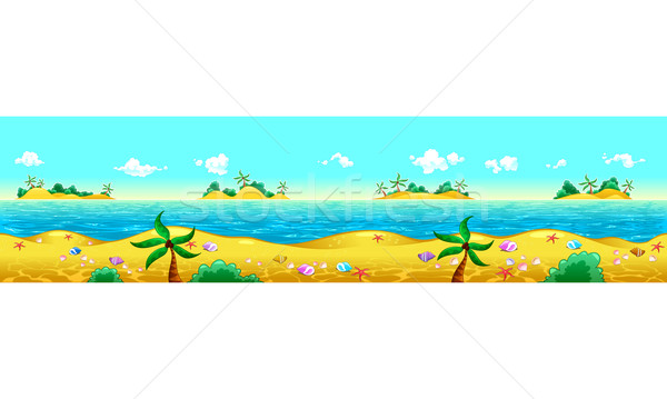 Oceaan ipad scherm herhalen mogelijk zee Stockfoto © ddraw