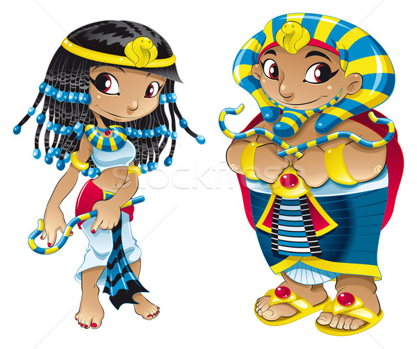 Cleopatra and Pharaoh. Stock photo © ddraw
