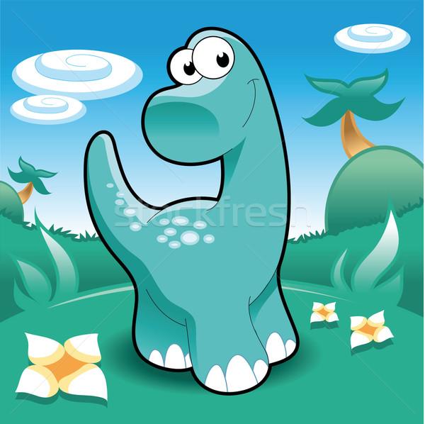 Stock photo: Brontosaurus.