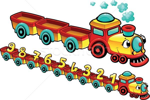Grappig trein cartoon vector geïsoleerd karakter Stockfoto © ddraw