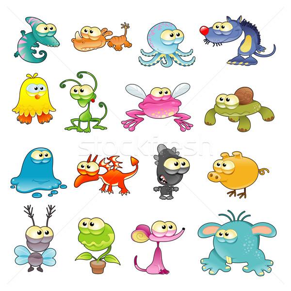 семьи Монстры смешные Cartoon вектора изолированный Сток-фото © ddraw