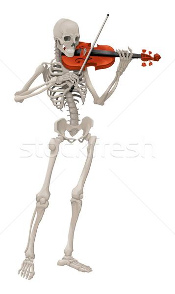 Isolato vettore scheletro giocare musica colore Foto d'archivio © ddraw