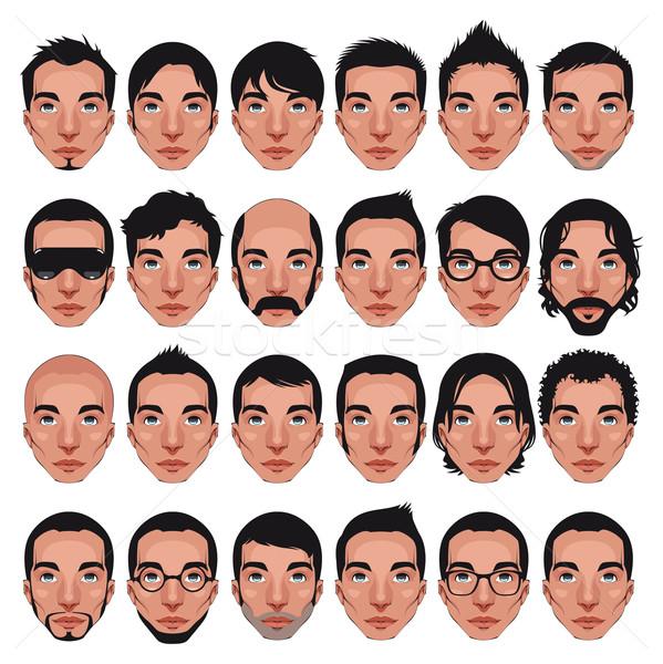 Avatar retratos vetor isolado diferente Foto stock © ddraw