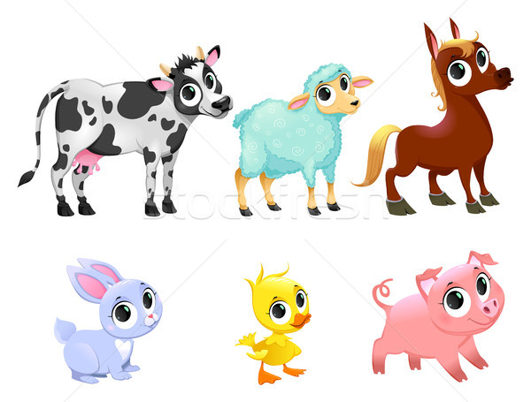 Funny farm animals Stock photo © ddraw
