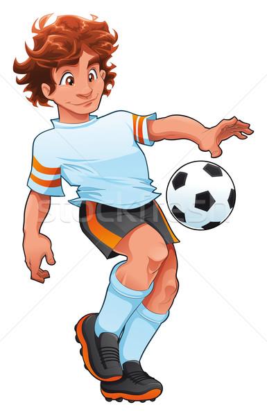 Soccer Player. Stock photo © ddraw