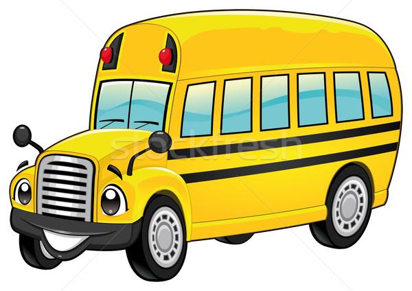 смешные школьный автобус Cartoon вектора изолированный характер Сток-фото © ddraw