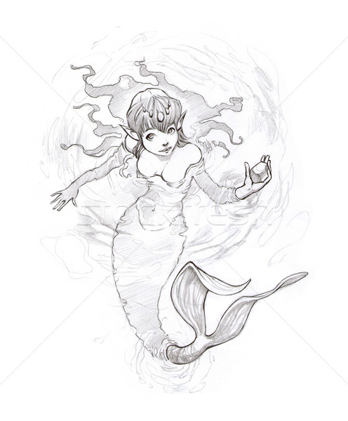Mermaid in the water.  Stock photo © ddraw