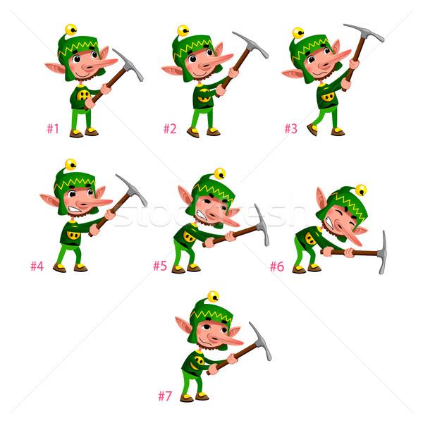 Animação anão sete quadros laço vetor Foto stock © ddraw