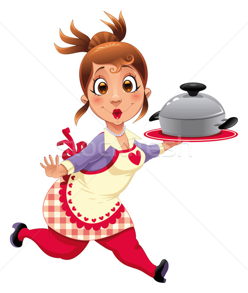 Housewife with pot.  Stock photo © ddraw