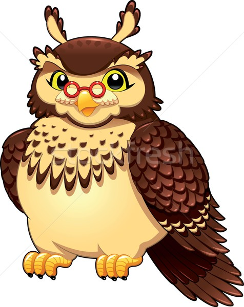 Funny owl. Stock photo © ddraw