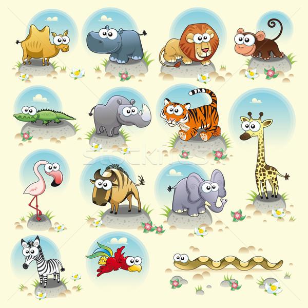 Savannah animals. Stock photo © ddraw