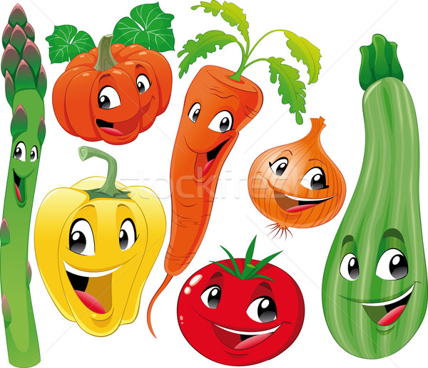 Vegetable family. Stock photo © ddraw