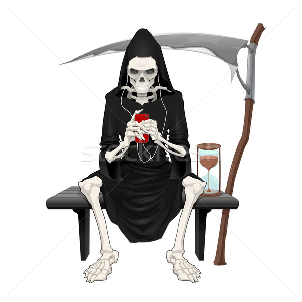 The death sitting on a bench. Stock photo © ddraw