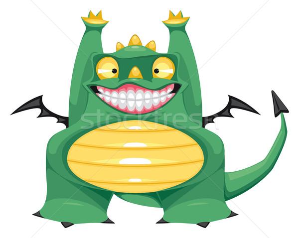Funny baby dragon. Stock photo © ddraw