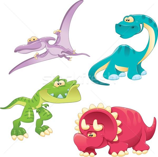 Stock photo: Dinosaurs Family.