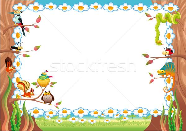Foto stock: Engraçado · cartão · texto · tamanho · bebê