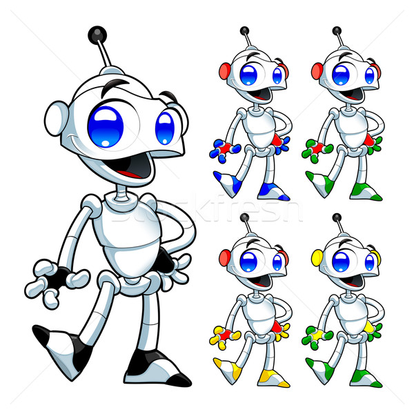 Funny robot. Stock photo © ddraw