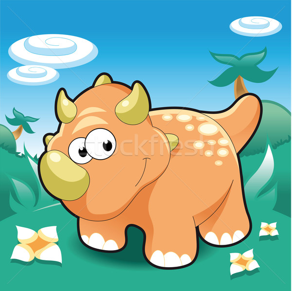 Baby Triceratops. Stock photo © ddraw