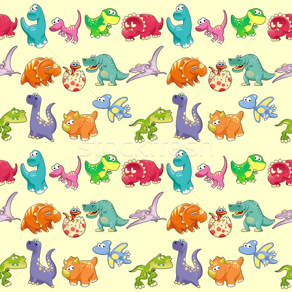 Group of funny dinosaurs with background.  Stock photo © ddraw