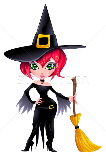 Funny witch. Stock photo © ddraw