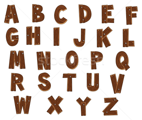Alfabet bos grappig cartoon vector geïsoleerd Stockfoto © ddraw