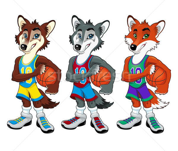 Basketball mascots Stock photo © ddraw