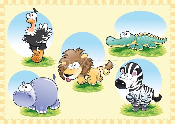 Savannah animal family. Stock photo © ddraw
